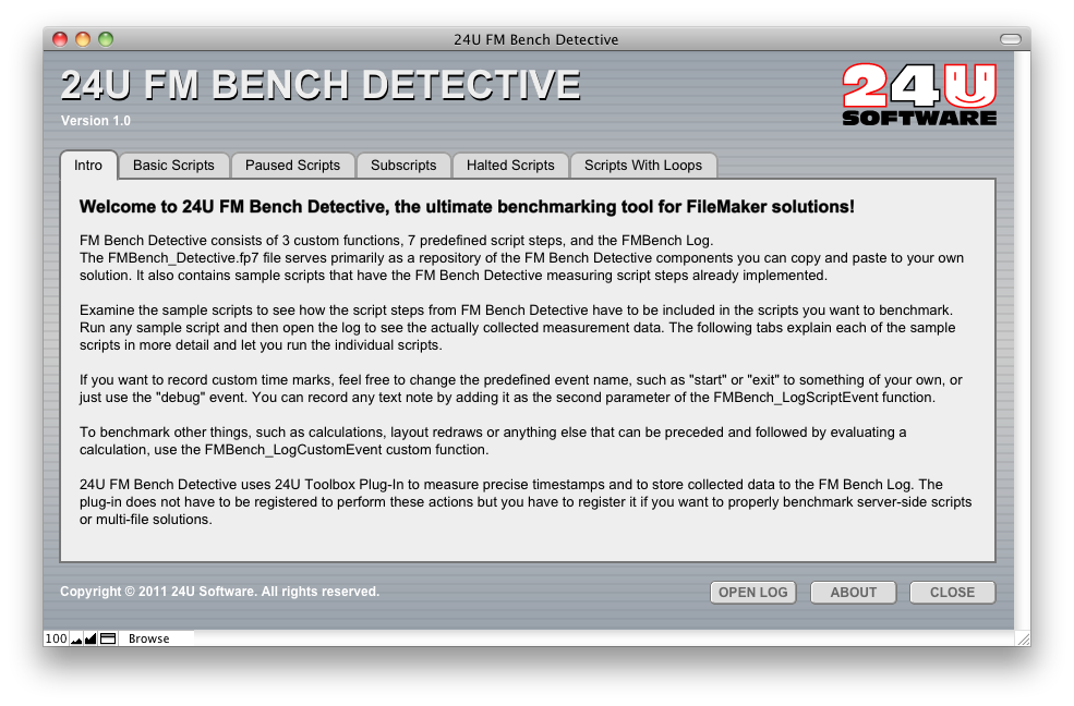 Detective Benchmarks your solution