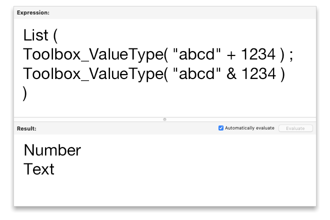 Get the Type of a FileMaker Variable